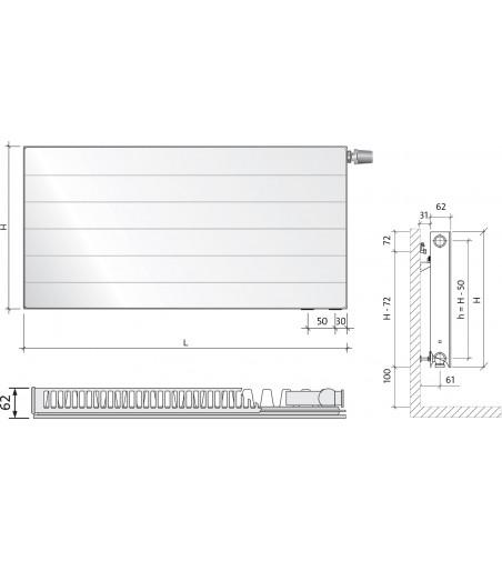 Radiatoare Purmo Ramo Ventil Compact  22 300X400